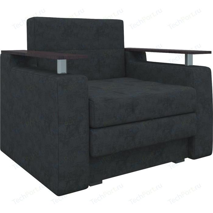 Кресло-кровать АртМебель Комфорт микровельвет черный