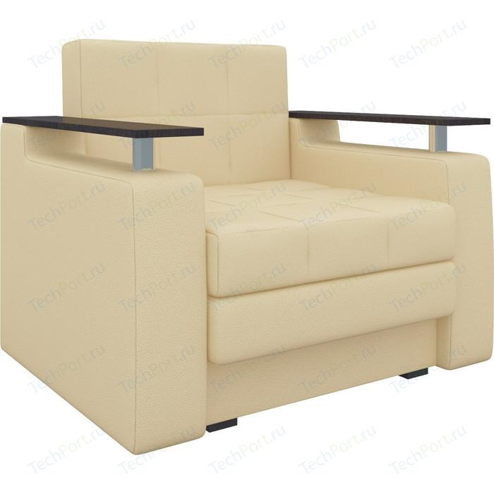 Кресло-кровать АртМебель Комфорт эко-кожа бежевый