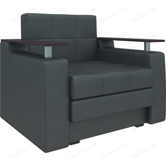 Кресло-кровать АртМебель Комфорт эко-кожа черный