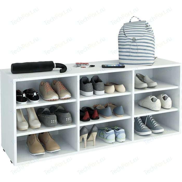 Полка для обуви Мастер Лана-3 (ПОЛ-3П) (белый) МСТ-ПОЛ-3П-БТ-16