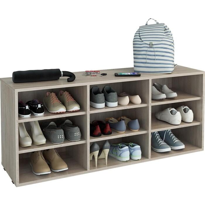 Полка для обуви Мастер Лана-3 (ПОЛ-3П) (дуб сонома) МСТ-ПОЛ-3П-ДС-16