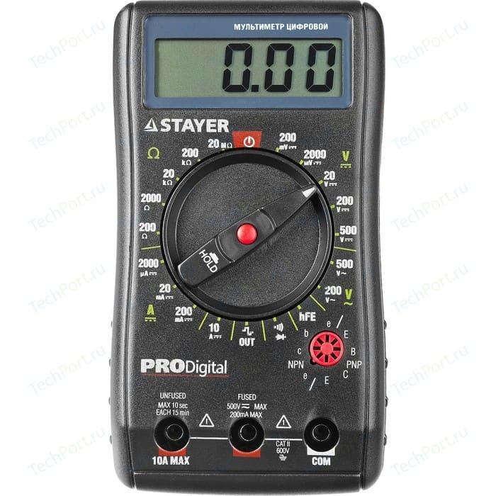 цена на Мультиметр цифровой Stayer Professional PRODigital (45310)