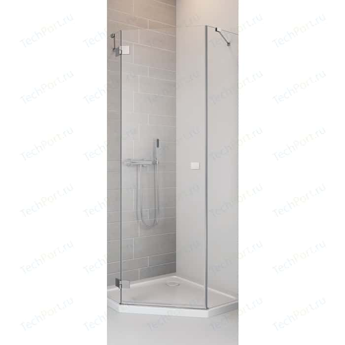 Душевая дверь Radaway Essenza New PTJ/ L 90 прозрачная, хром, левая (385010-01-01L)