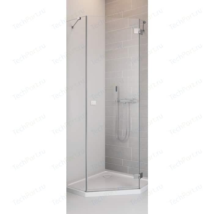 Душевая дверь Radaway Essenza New PTJ/R 90 прозрачная, хром, правая (385010-01-01R)