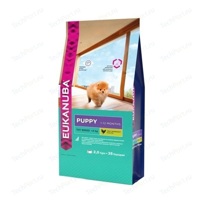 Сухой корм Eukanuba Puppy Toy Breed with Chicken с курицей для щенков миниатюрных пород 2кг
