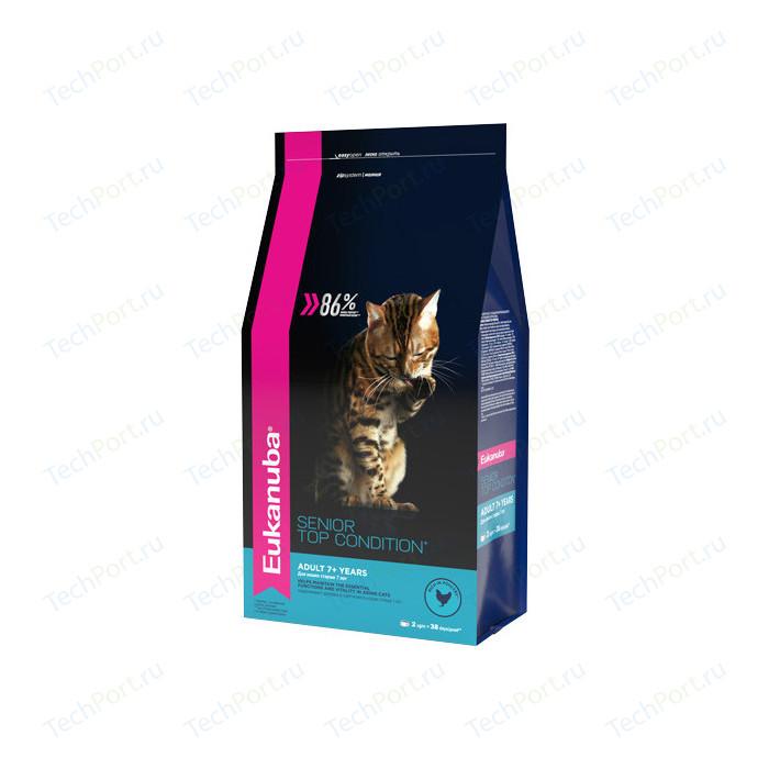 Сухой корм Eukanuba Senior Cat Top Condition Rich in Poultry с домашней птицей для кошек старше 7лет 2кг