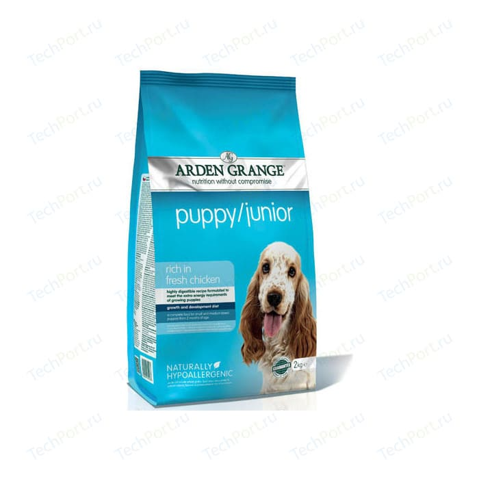 Сухой корм ARDEN GRANGE Puppy/Junior Hypoallergenic Rich in Fresh Chicken гипоалергенный с курицей для щенков и молодых собак 12кг (AG601344)