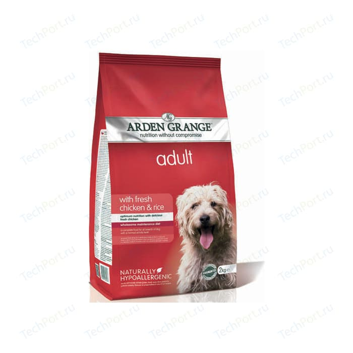 Сухой корм ARDEN GRANGE Adult Dog Hypoallergenic with Fresh Chicken&Rice гипоалергенный с курицей и рисом для взрослых собак 12кг (AG603348)