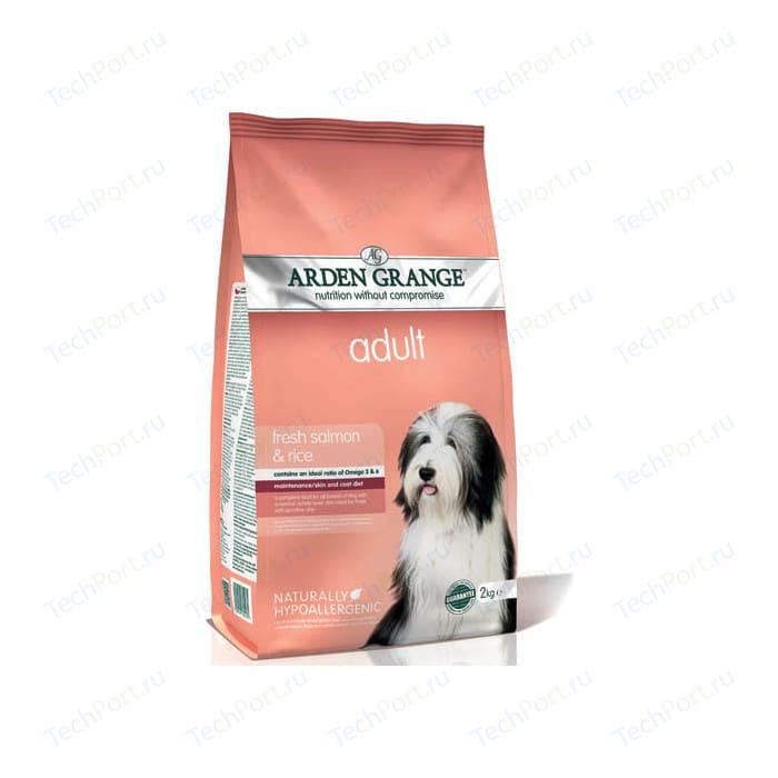 Сухой корм ARDEN GRANGE Adult Dog Hypoallergenic with Fresh Salmon&Rice гипоалергенный с лососем и рисом для взрослых собак 6кг (AG605311)