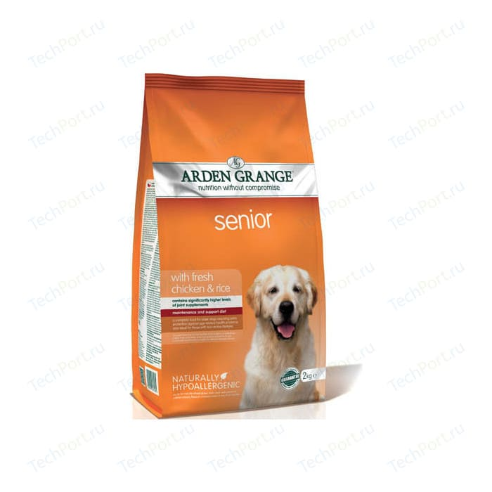 Сухой корм ARDEN GRANGE Senior Dog Hypoallergenic with Fresh Chicken&Rice гипоалергенный с курицей и рисом для пожилых собак 2кг (AG607285)