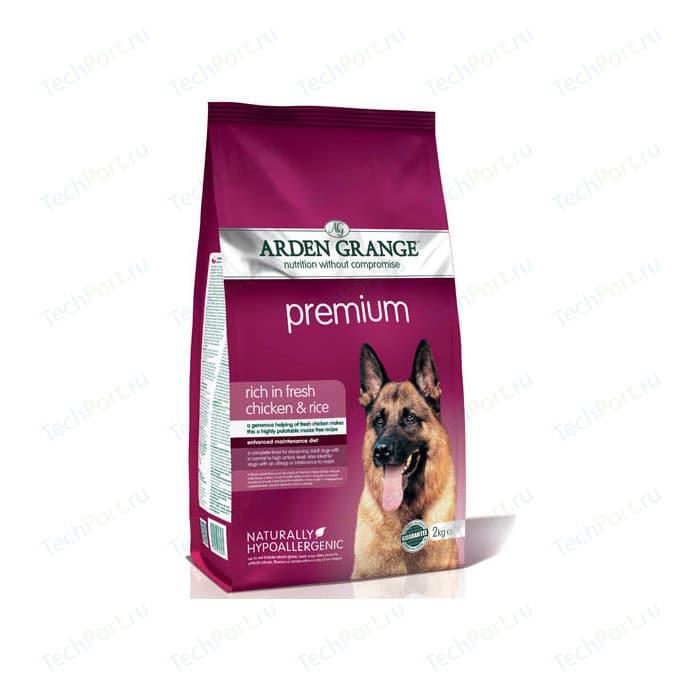 Сухой корм ARDEN GRANGE Adult Dog Premium Hypoallergenic Rich in Fresh Chicken &Rice гипоалергенный с курицей и рисом для взрослых собак 12кг (AG608343)