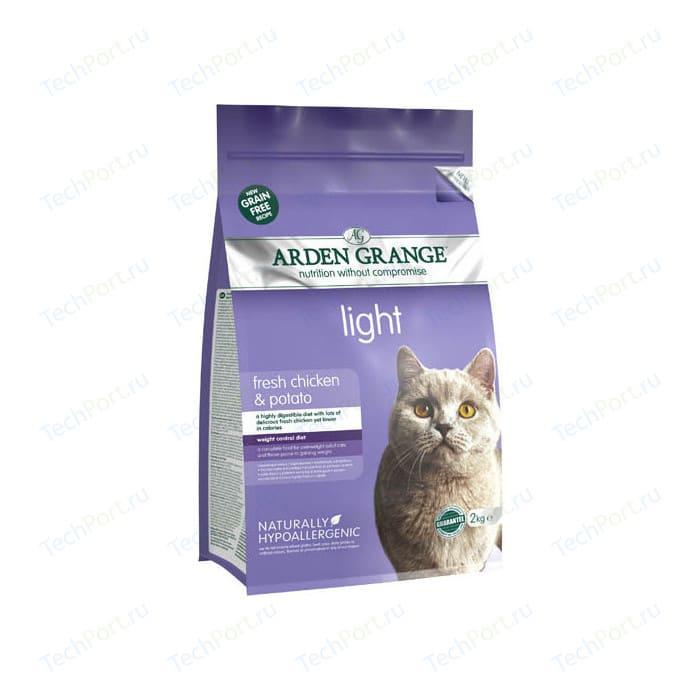 Сухой корм ARDEN GRANGE Adult Cat Light Grain Free Fresh Chicken&Potato беззерновой облегченный с курицей и картофелем для кошек 4кг (AG614368)