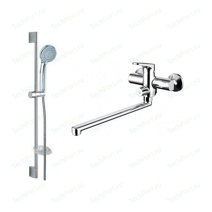 Смеситель для ванны Bravat Eler универсальный, с лейкой (F00449CP)