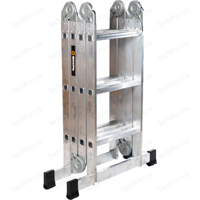 Лестница-трансформер Вихрь ЛТА 4х3 лестница вихрь лта 4х3 алюминий 3ступ h3 3м макс нагр 120кг 73 5 1 14