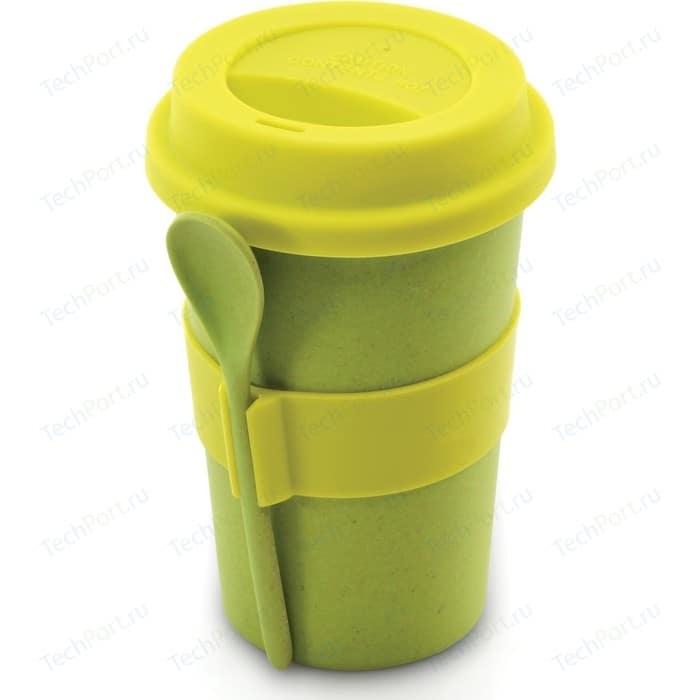 Кружка для кофе с ложкой 0.5 л BergHOFF CooknCo салатовая (2800055)