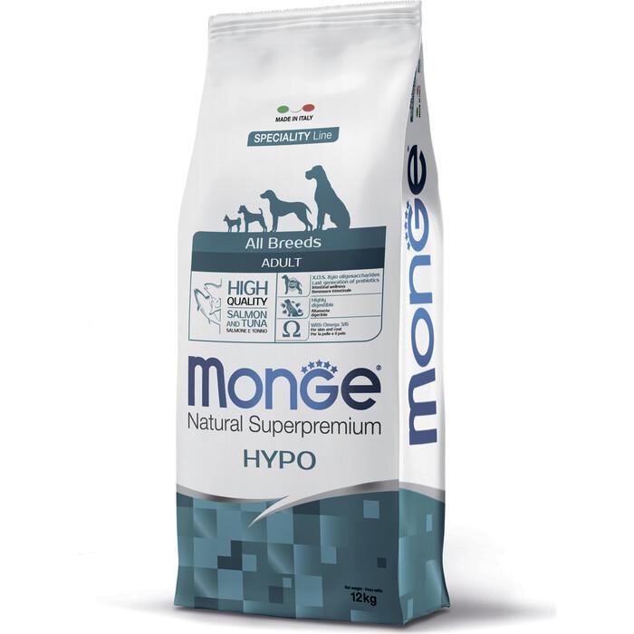 Сухой корм Monge Speciality Line Adult Dog All Breed Hypoallergenic Salmon and Tuna гипоаллергенный с лососем и тунцом для взрослых собак 12кг