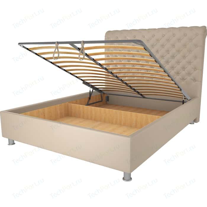 Кровать OrthoSleep Симона бисквит механизм и ящик 140х200