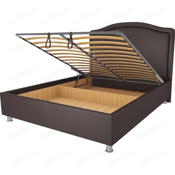 Кровать OrthoSleep Калифорния шоколад механизм и ящик 200х200