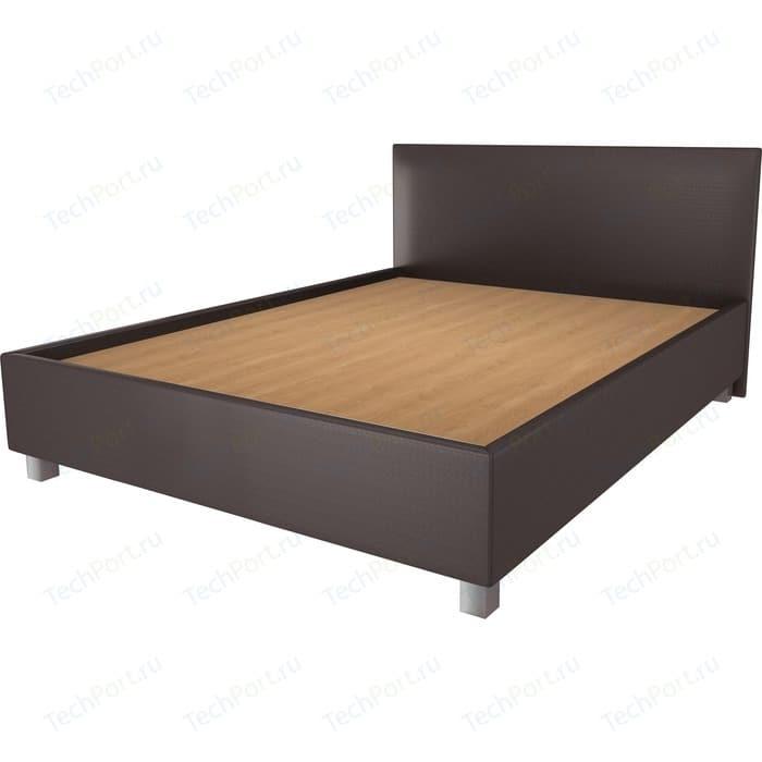 Кровать OrthoSleep Ниагара шоколад жесткое основание 140х200 кровать orthosleep ниагара бисквит жесткое основание 140х200