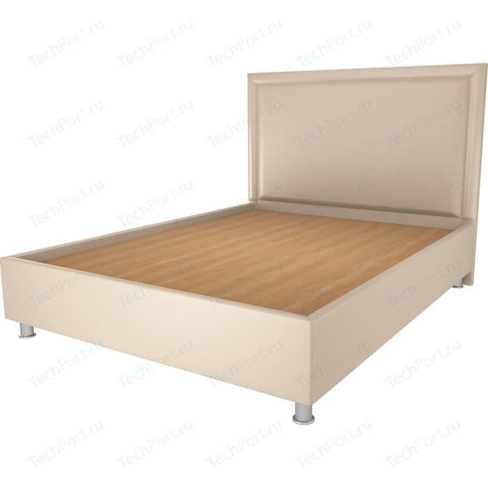 Кровать OrthoSleep Нью-Йорк бисквит жесткое основание 200х200 кровать orthosleep нью йорк шоколад жесткое основание 200х200