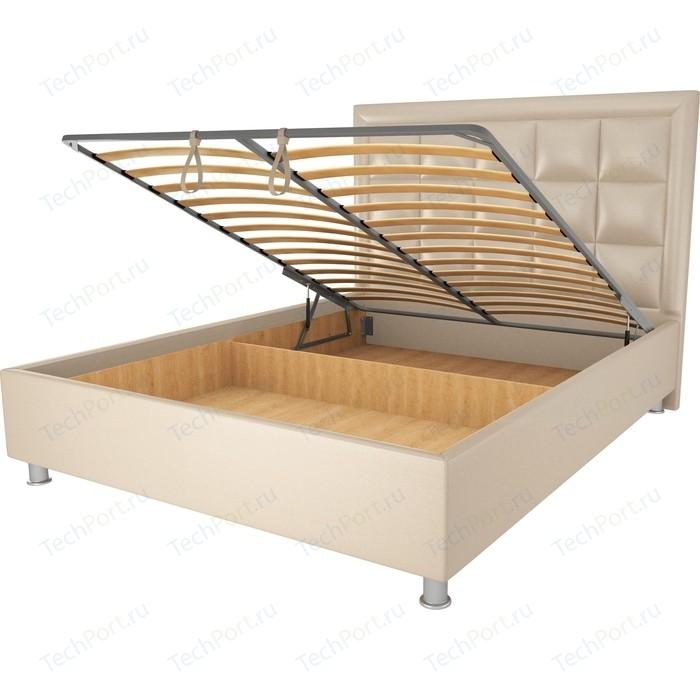 Кровать OrthoSleep Альба бисквит механизм и ящик 160х200
