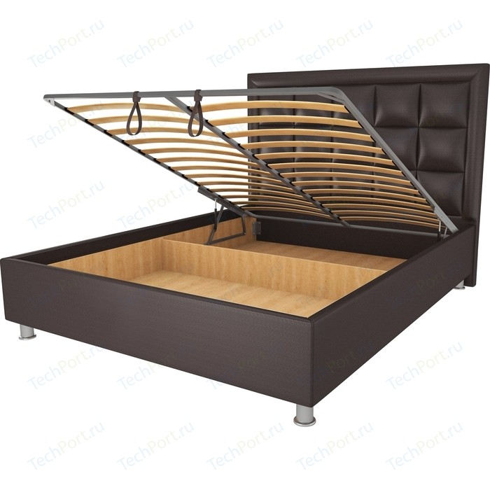 Кровать OrthoSleep Альба шоколад механизм и ящик 90х200 кровать orthosleep альба шоколад механизм и ящик 90х200