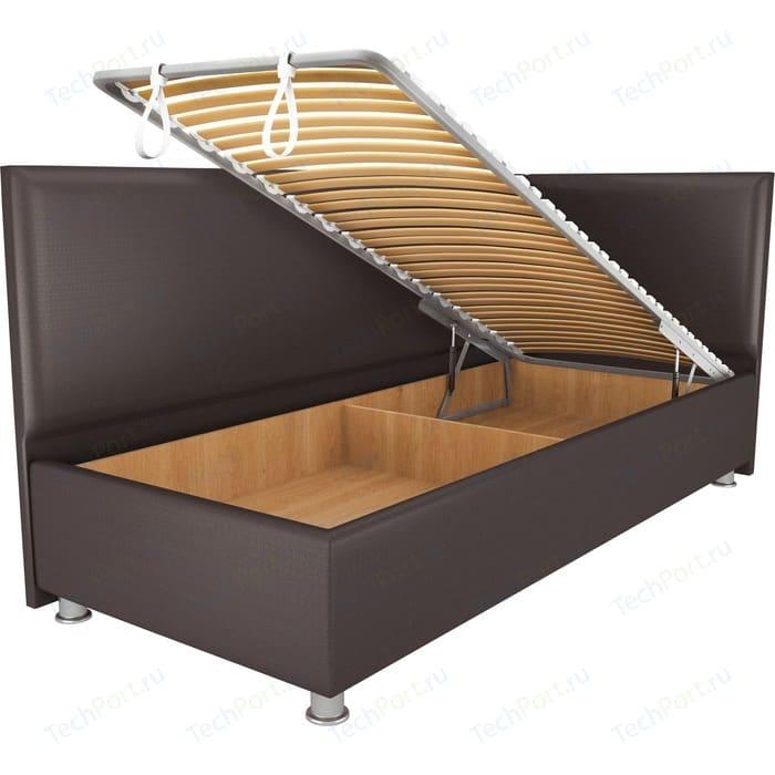 Кровать OrthoSleep Бибионе Лайт механизм и ящик Сонтекс Умбер 80х200