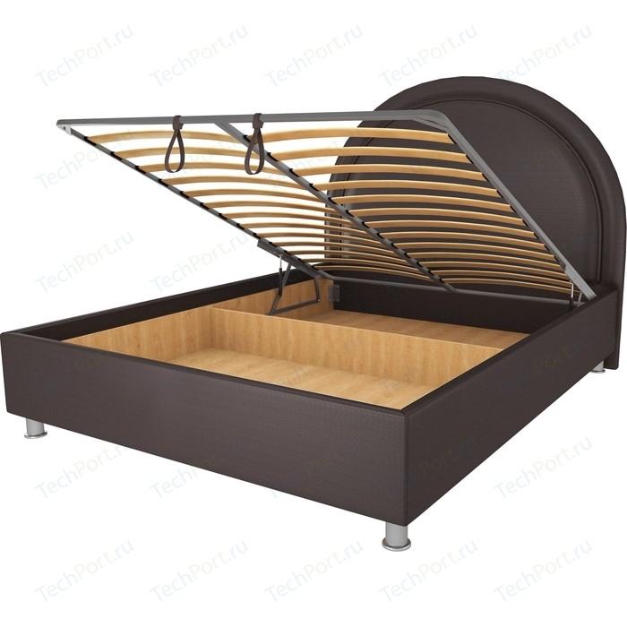 Кровать OrthoSleep Аляска шоколад механизм и ящик 160х200