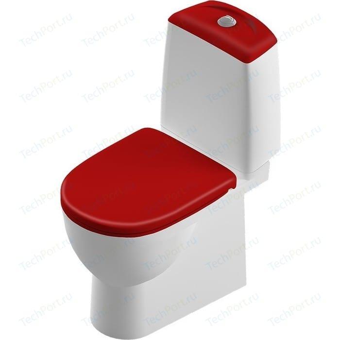 Унитаз компакт Sanita luxe Best Color Red SL DM с сиденьем микролифт (BSTSLCC07110522 / SL900307)