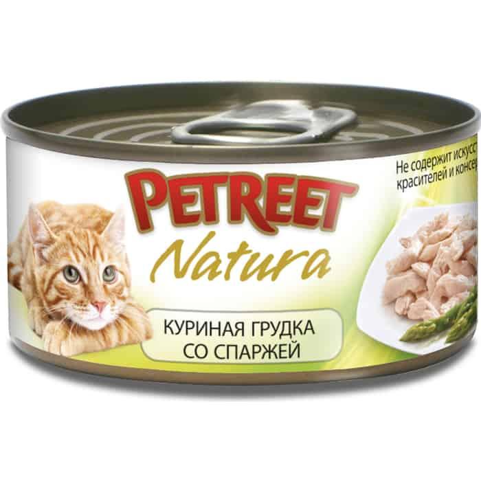 Консервы Petreet Natura куриная грудка со спаржей для кошек 70г