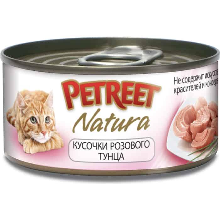 Консервы Petreet Natura кусочки розового тунца для кошек 70г