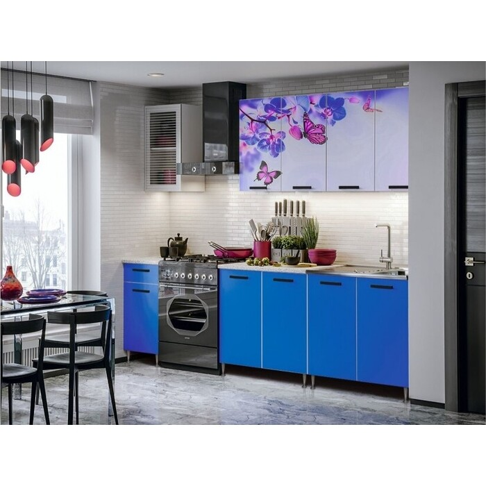 Кухня Миф Бабочки 2,0 м с фотопечатью ЛДСП