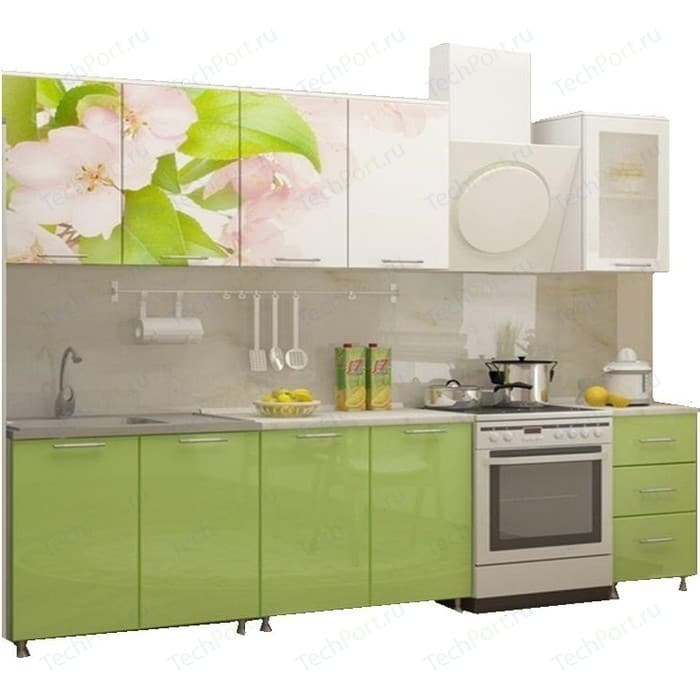 Кухня Миф Яблоневый цвет 2,0 м с фотопечатью МДФ недорого
