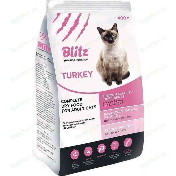 Сухой корм Blitz Petfood Superior Nutrition Adult Cats with Turkey с индейкой для взрослых кошек 2кг
