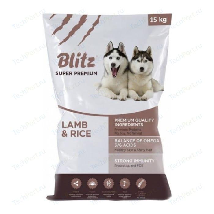 Сухой корм Blitz Petfood Superior Nutrition Adult Dog All Breeds with Lamb & Rice c ягнёнком и рисом для взрослых собак всех пород 15кг