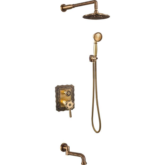 Душевая система ZorG Antic бронза (A 104DS-BR)