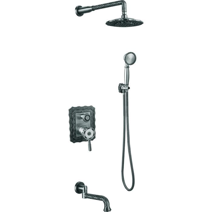 Душевая система ZorG Antic серебро (A 104DS-SL)