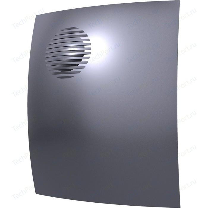 Вентилятор DiCiTi осевой вытяжной с обратным клапаном D 100 декоративный (PARUS 4C dark gray metal)