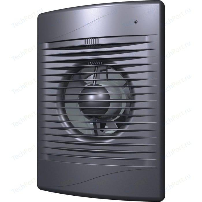 Вентилятор DiCiTi осевой вытяжной с обратным клапаном D 100 декоративный (STANDARD 4C dark gray met)
