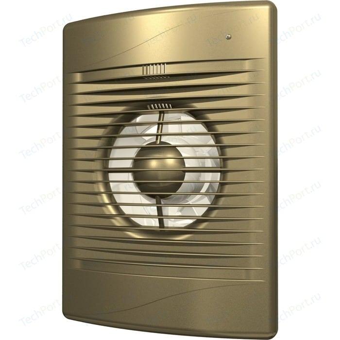 Вентилятор DiCiTi осевой вытяжной с обратным клапаном D 100 декоративный (STANDARD 4C champagne)