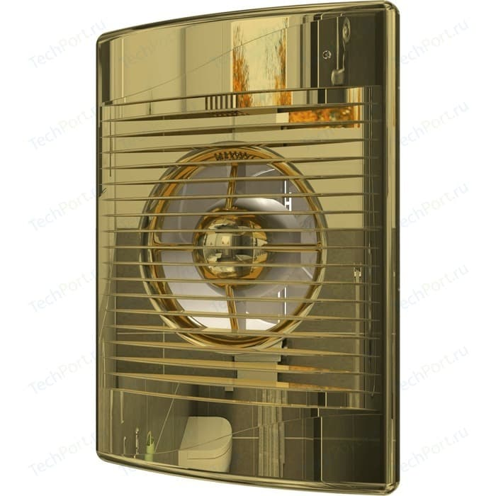 Вентилятор DiCiTi осевой вытяжной с обратным клапаном D 100 декоративный (STANDARD 4C Gold)