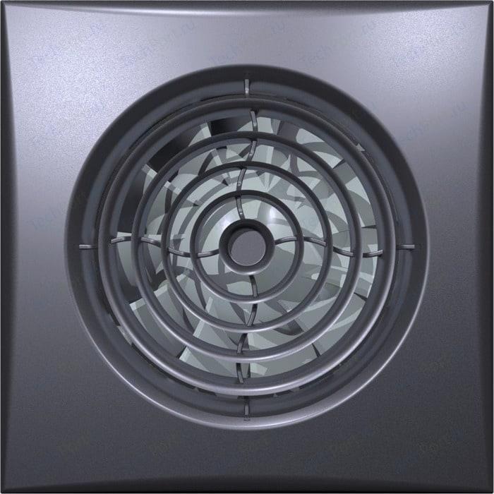 Вентилятор DiCiTi осевой вытяжной с обратным клапаном D 100 декоративный (AURA 4C dark gray metal)