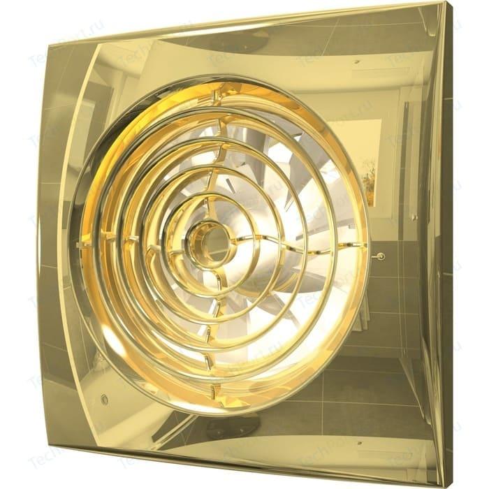 Вентилятор DiCiTi осевой вытяжной с обратным клапаном D 100 декоративный (AURA 4C Gold)