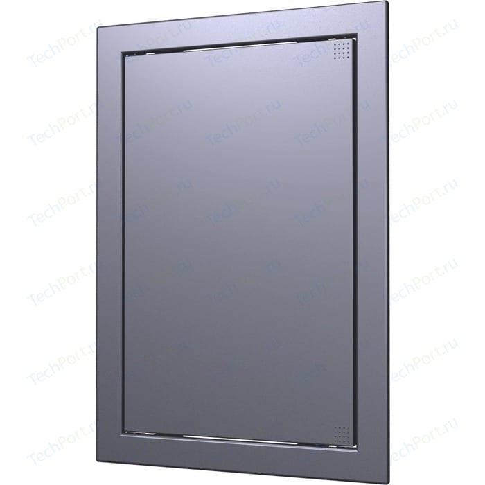 Люк-дверца EVECS ревизионная 218х418 с фланцем 196х396 ABS декоративный (Л2040 dark gray metal)