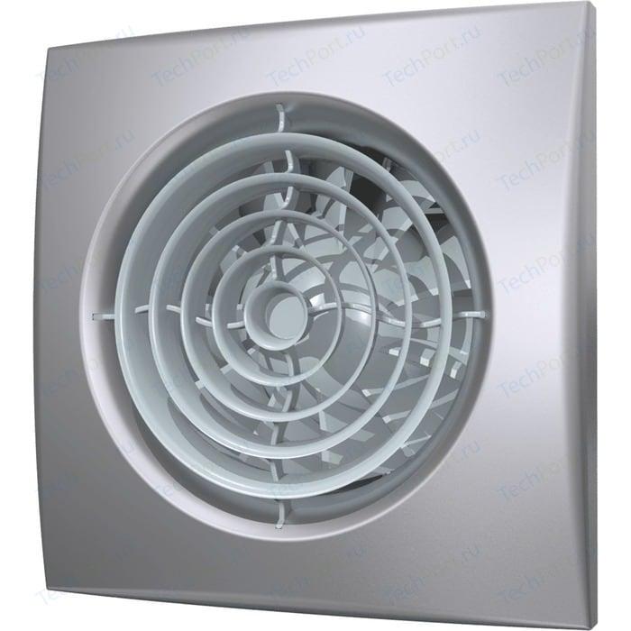 Вентилятор DiCiTi осевой вытяжной с обратным клапаном D 125 декоративный (AURA 5C gray metal)