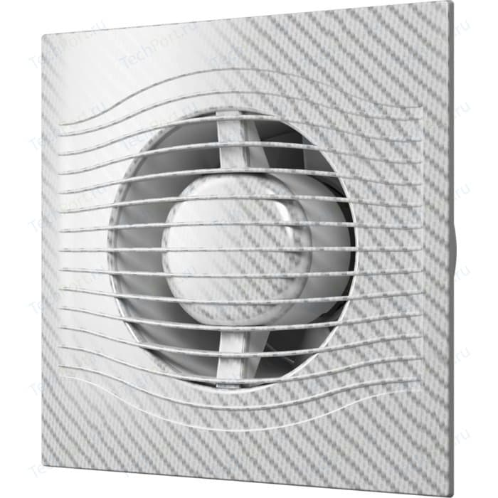 Вентилятор DiCiTi осевой вытяжной с обратным клапаном D 100 декоративный (SLIM 4C white carbon)