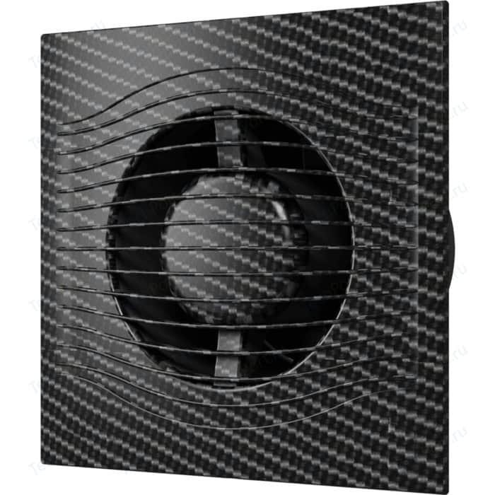 Вентилятор DiCiTi осевой вытяжной с обратным клапаном D 100 декоративный (SLIM 4C black carbon)