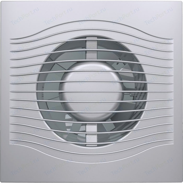 Вентилятор DiCiTi осевой вытяжной с обратным клапаном D 125 декоративный (SLIM 5C gray metal)