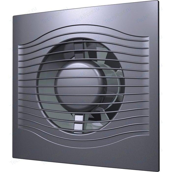Вентилятор DiCiTi осевой вытяжной с обратным клапаном D 125 декоративный (SLIM 5C dark gray metal)
