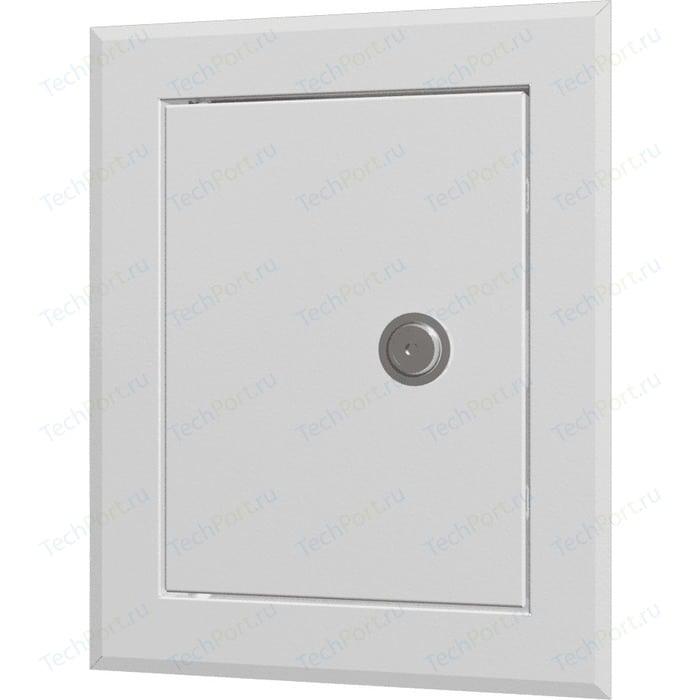 Люк-дверца EVECS ревизионная 610х610 с фланцем 550х550 замком стальная покрытием полимерной эмалью (ЛТ5555МЗ)